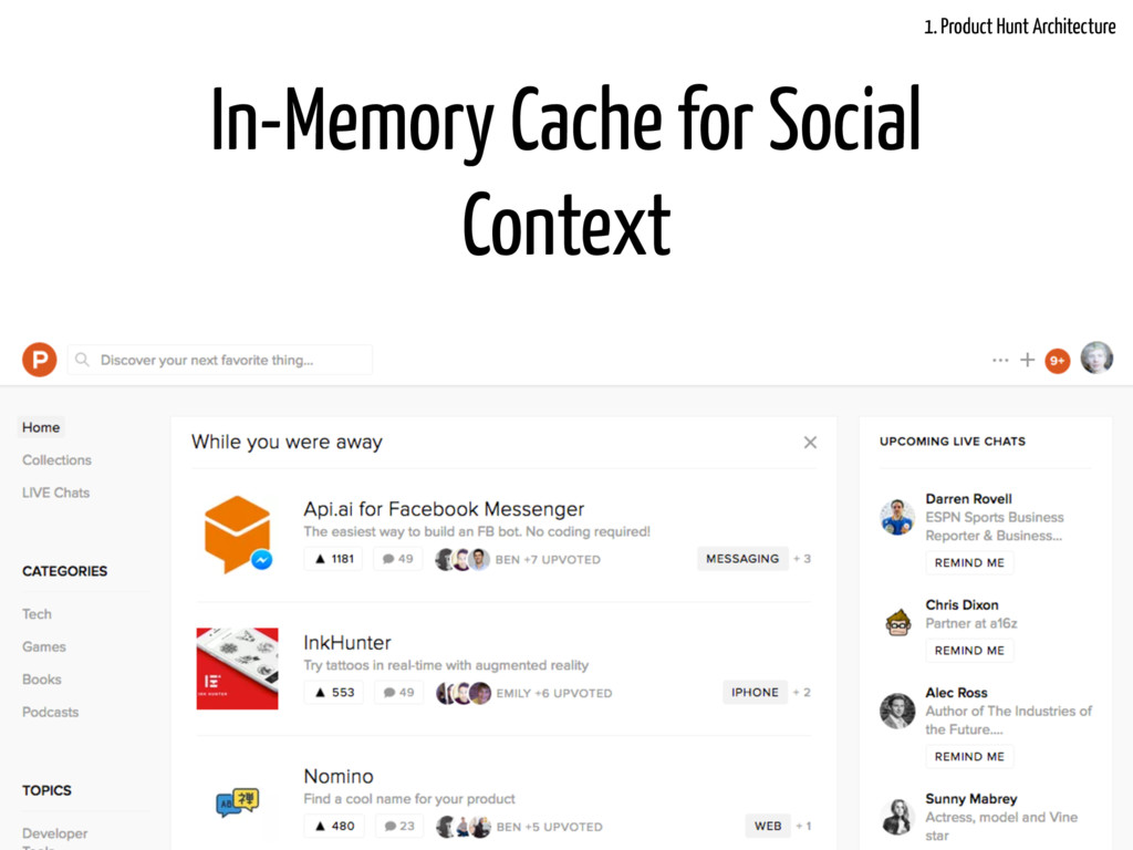 @LukasFittl In-Memory Cache for Social Context ...