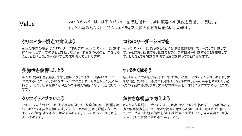 note inc. 事業 11