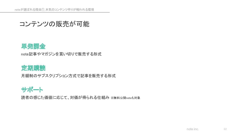 note inc. cakesは多数のクリエイターや出版社と提携しているコンテンツ配信サイトで...