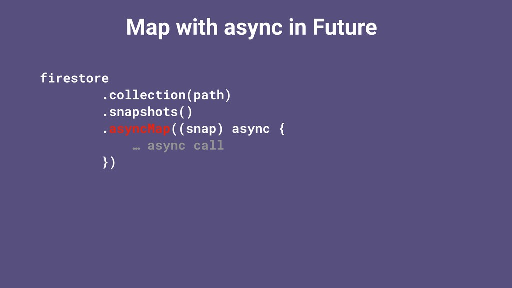 Map with async in Future firestore .collection(...