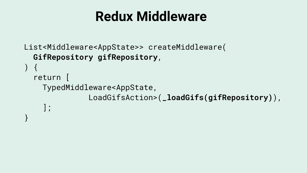 Redux Middleware List<Middleware<AppState>> cre...