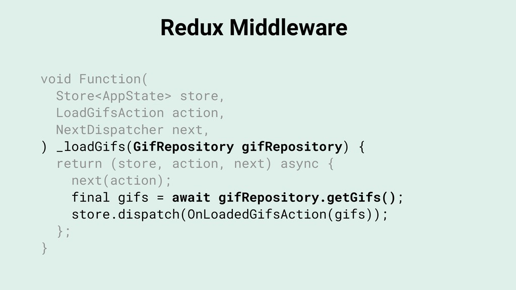 Redux Middleware void Function( Store<AppState>...