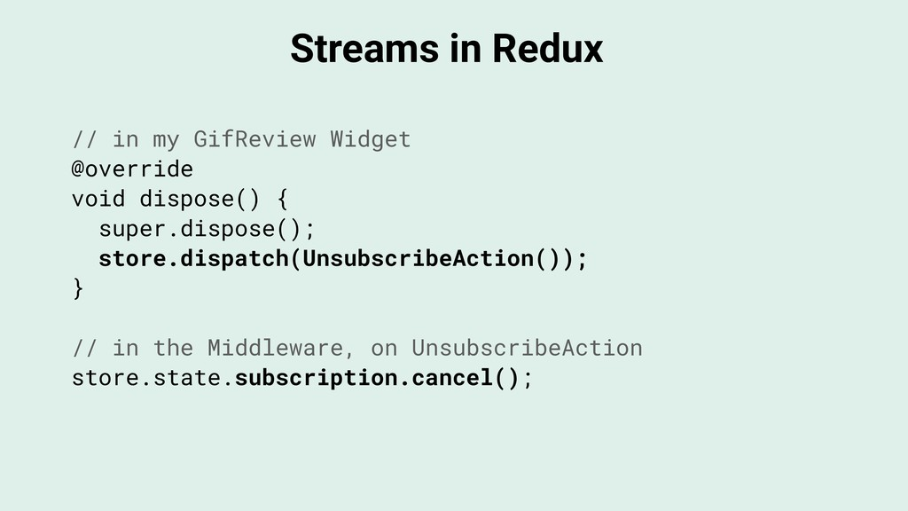 Streams in Redux // in my GifReview Widget @ove...