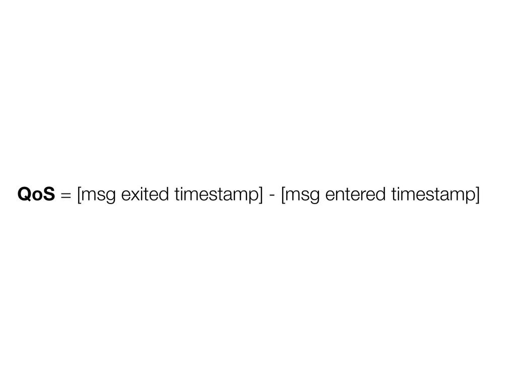 QoS = [msg exited timestamp] - [msg entered tim...