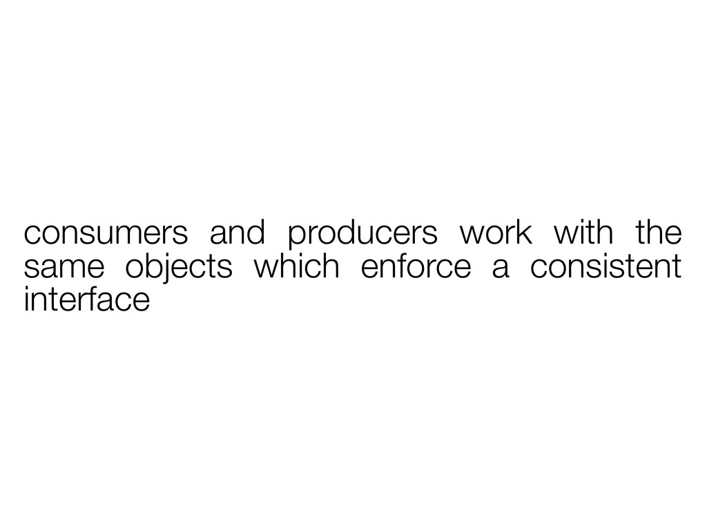 consumers and producers work with the same obje...