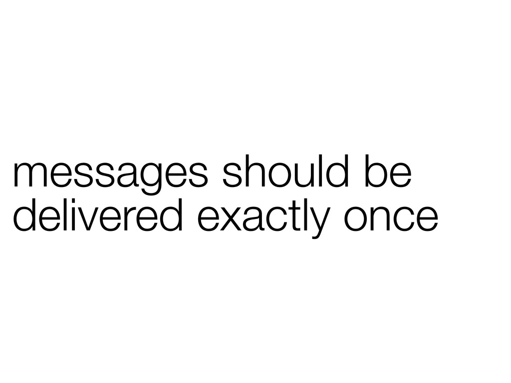 messages should be delivered exactly once