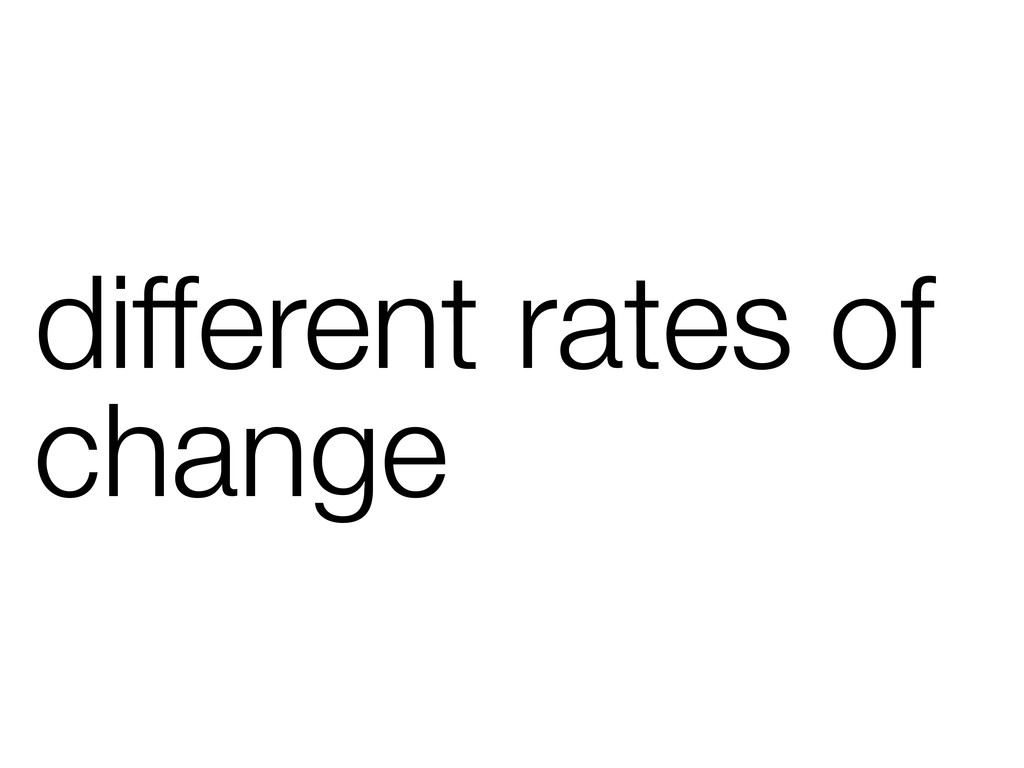 different rates of change