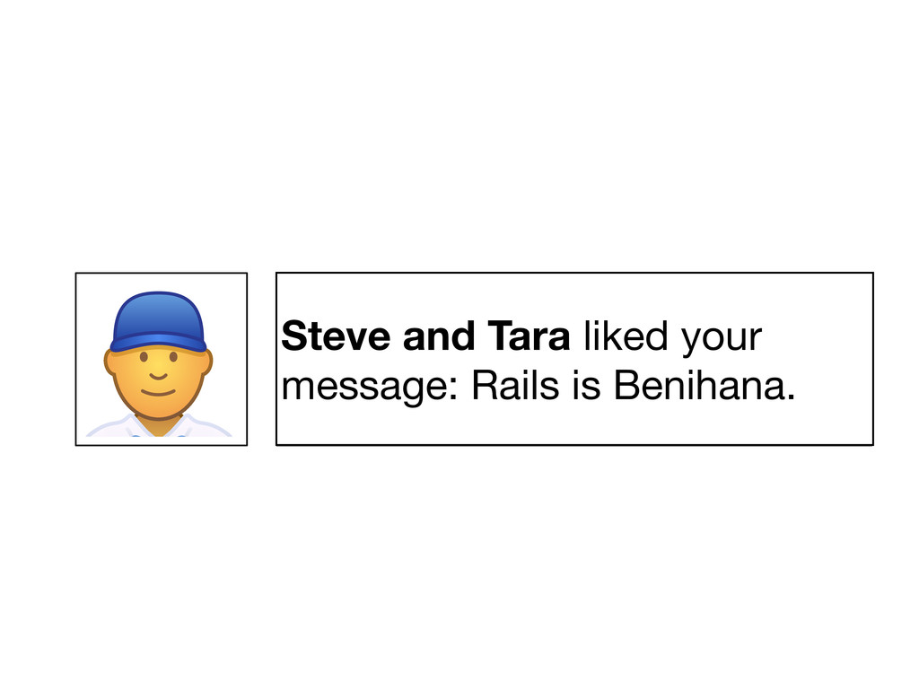 Steve and Tara liked your message: Something pi...