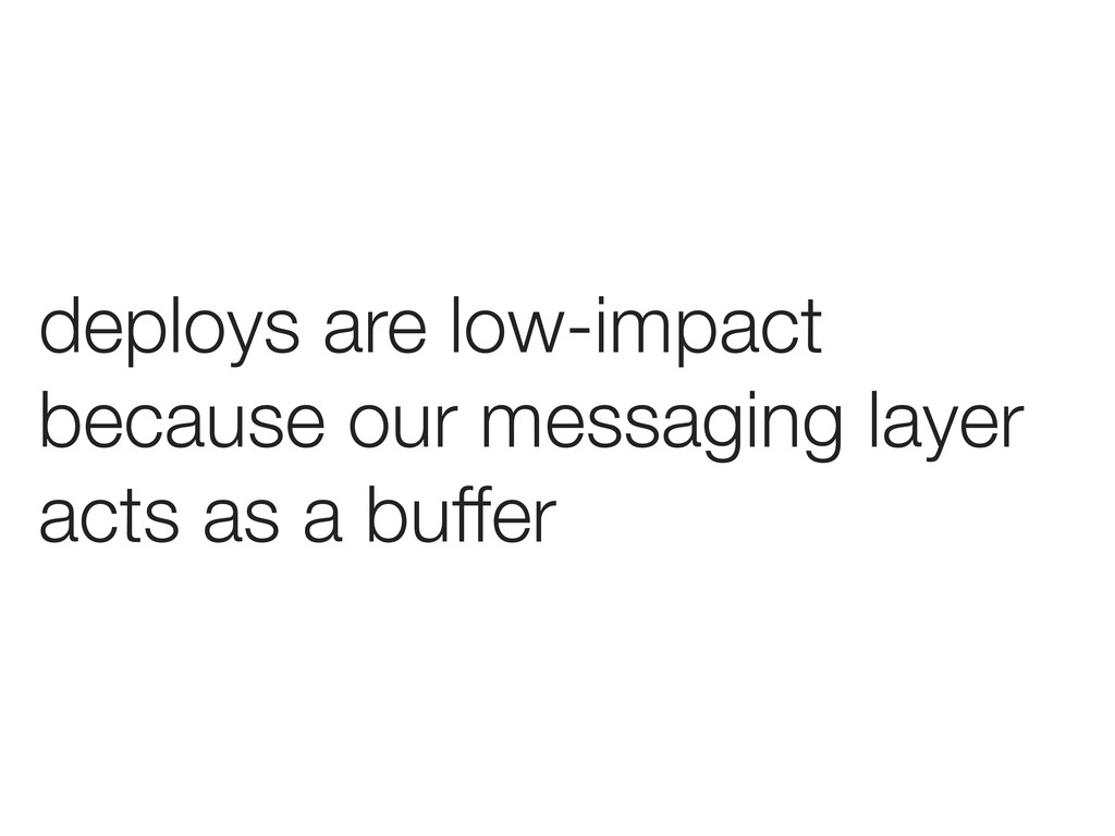 deploys are low-impact because our messaging la...