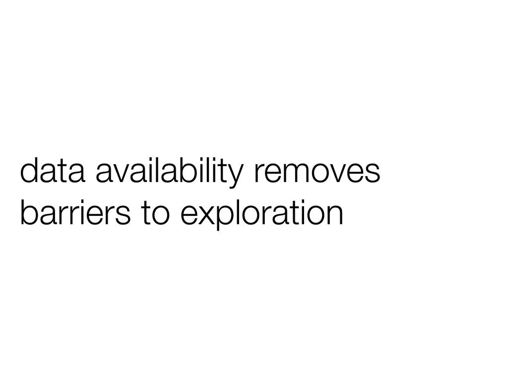 data availability removes barriers to explorati...