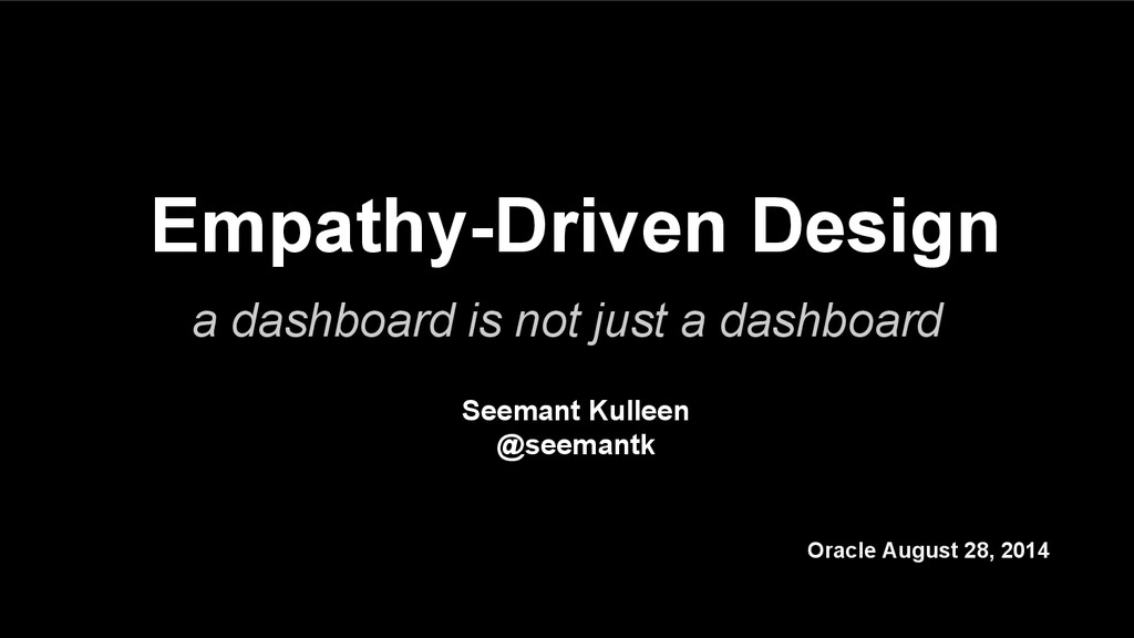 Empathy-Driven Design a dashboard is not just a...