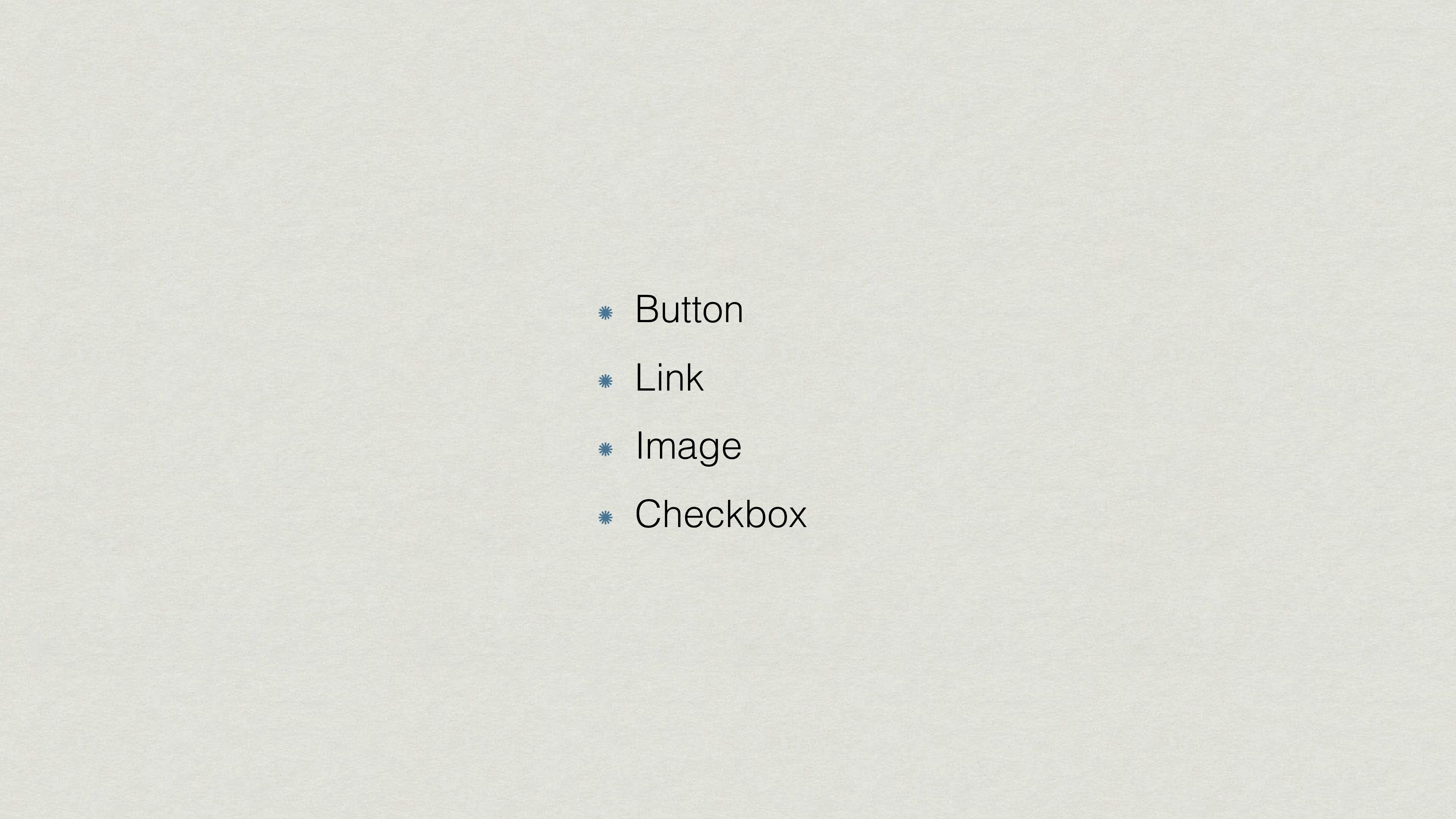 Button Link Image Checkbox