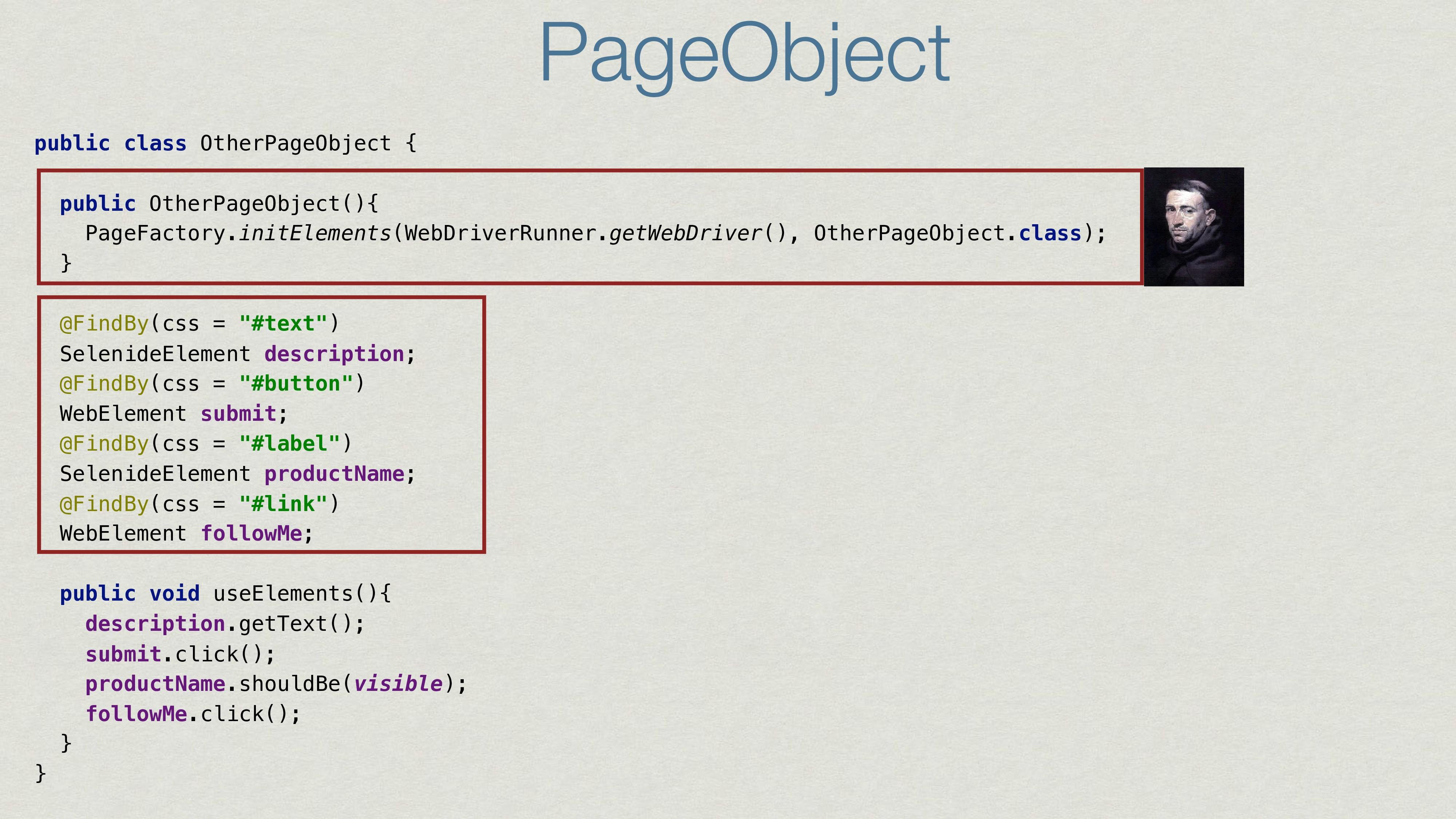PageObject public class OtherPageObject { publi...