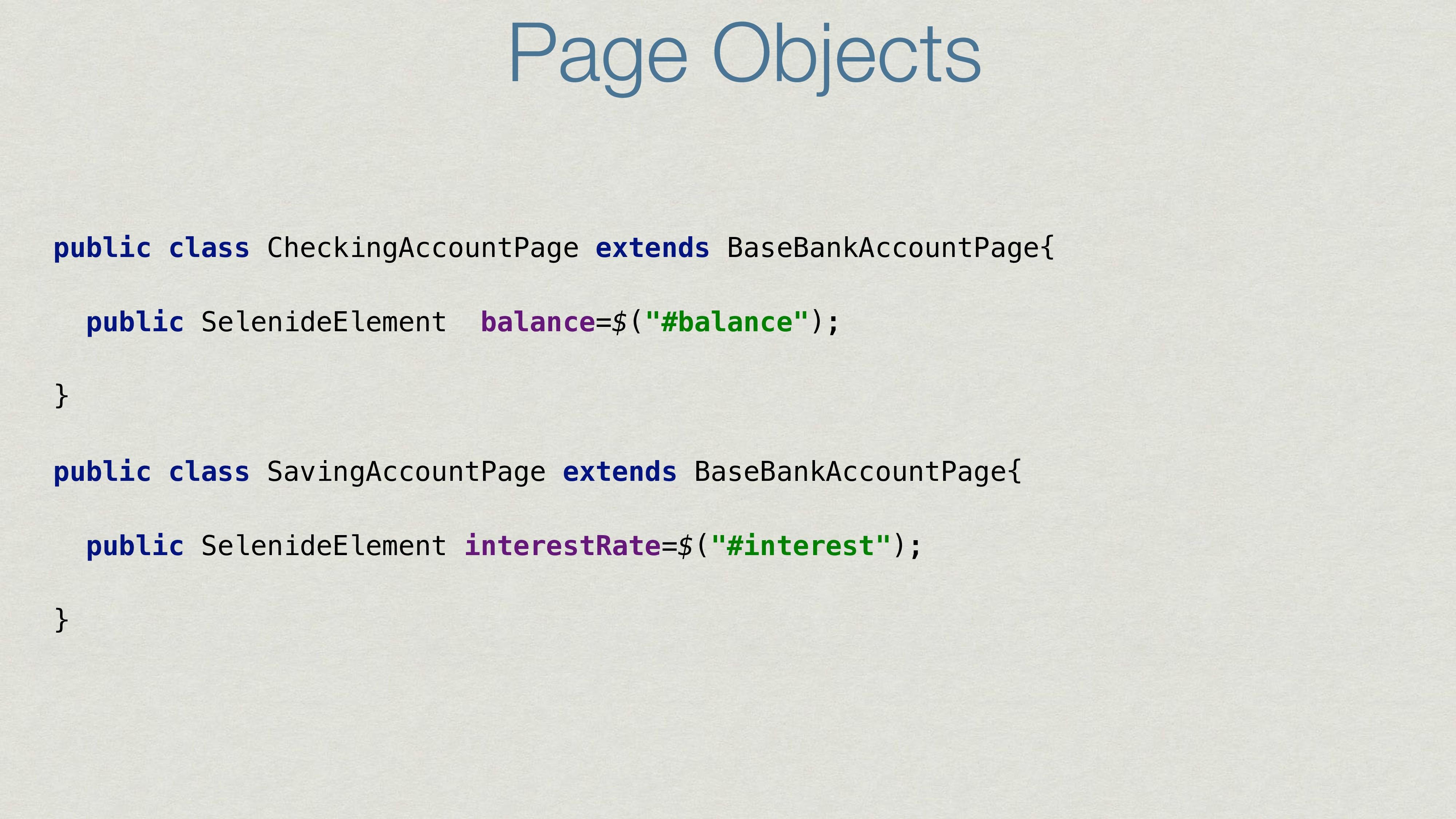 public class CheckingAccountPage extends BaseBa...