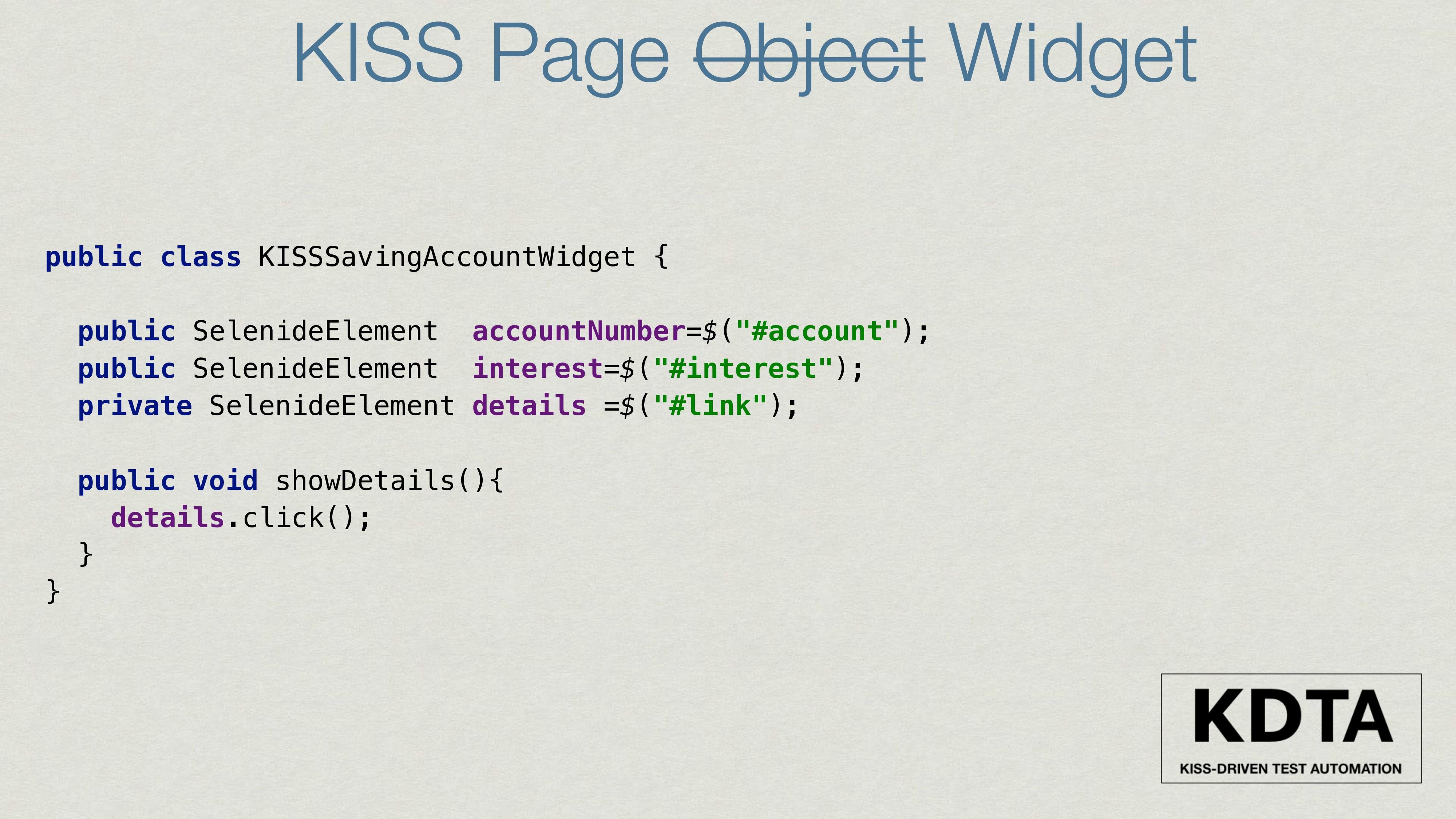public class KISSSavingAccountWidget { public S...