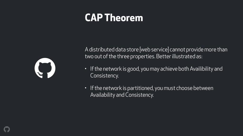 CAP Theorem A distributed data store [web servi...