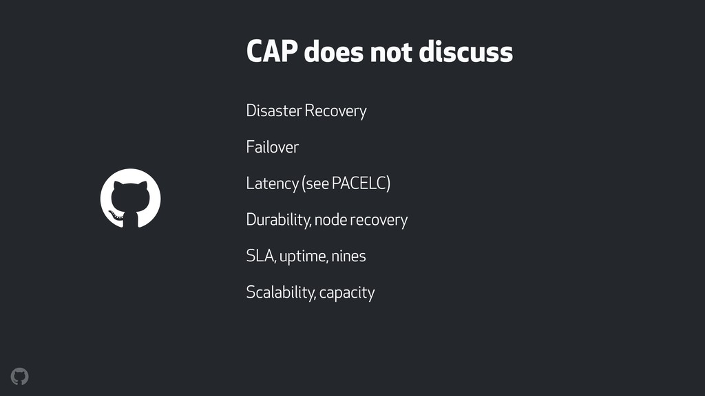 CAP does not discuss Disaster Recovery Failover...