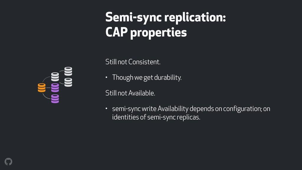 Semi-sync replication: CAP properties Still no...