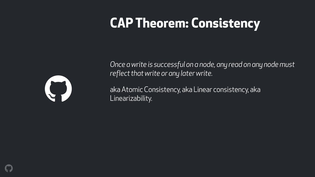 CAP Theorem: Consistency Once a write is succes...
