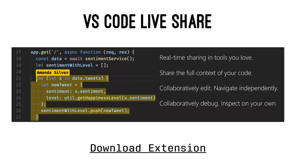 VS CODE LIVE SHARE Download Extension