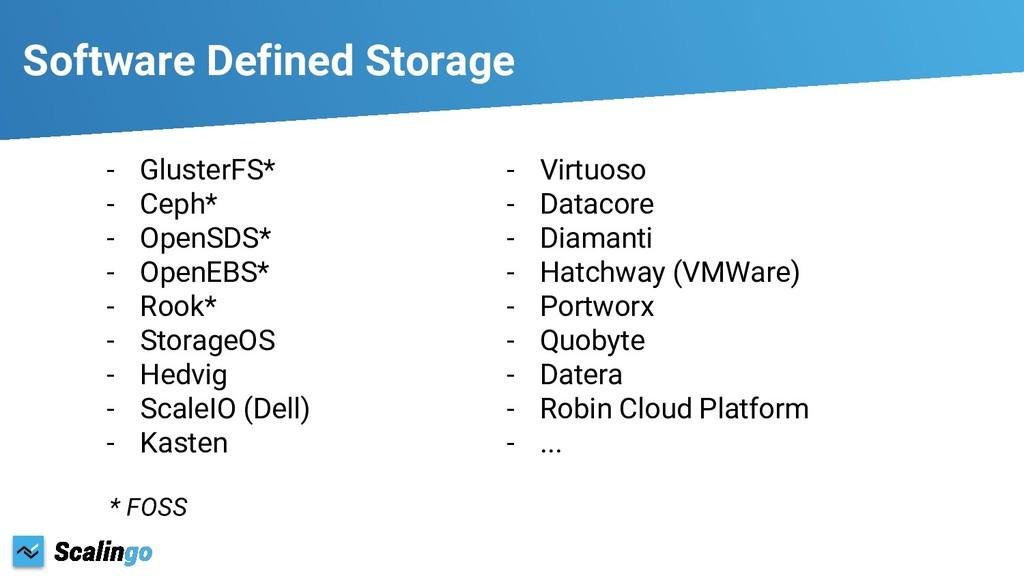 Software Defined Storage - GlusterFS* - Ceph* -...