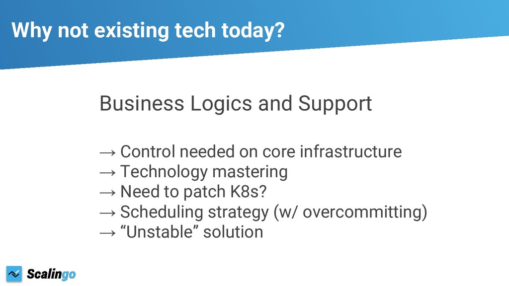Business Logics and Support → Control needed on...