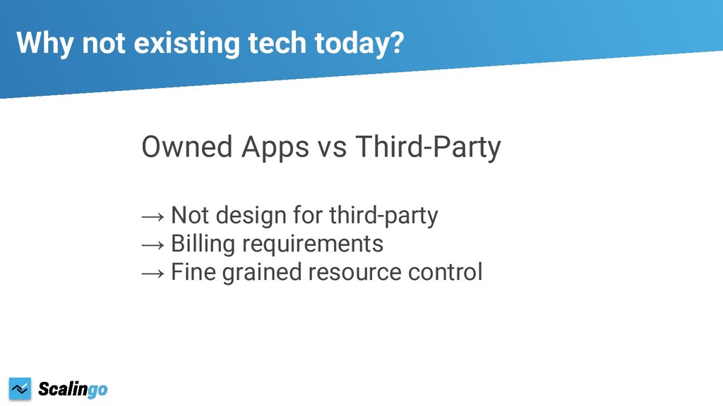 Owned Apps vs Third-Party → Not design for thir...
