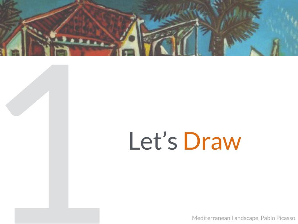 Let's Draw 1 Mediterranean Landscape, Pablo Pic...