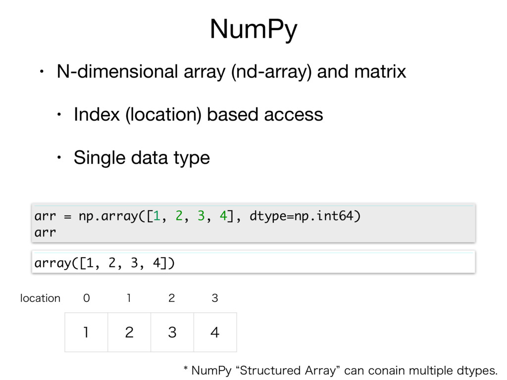 NumPy • N-dimensional array (nd-array) and matr...