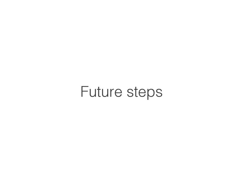 Future steps!