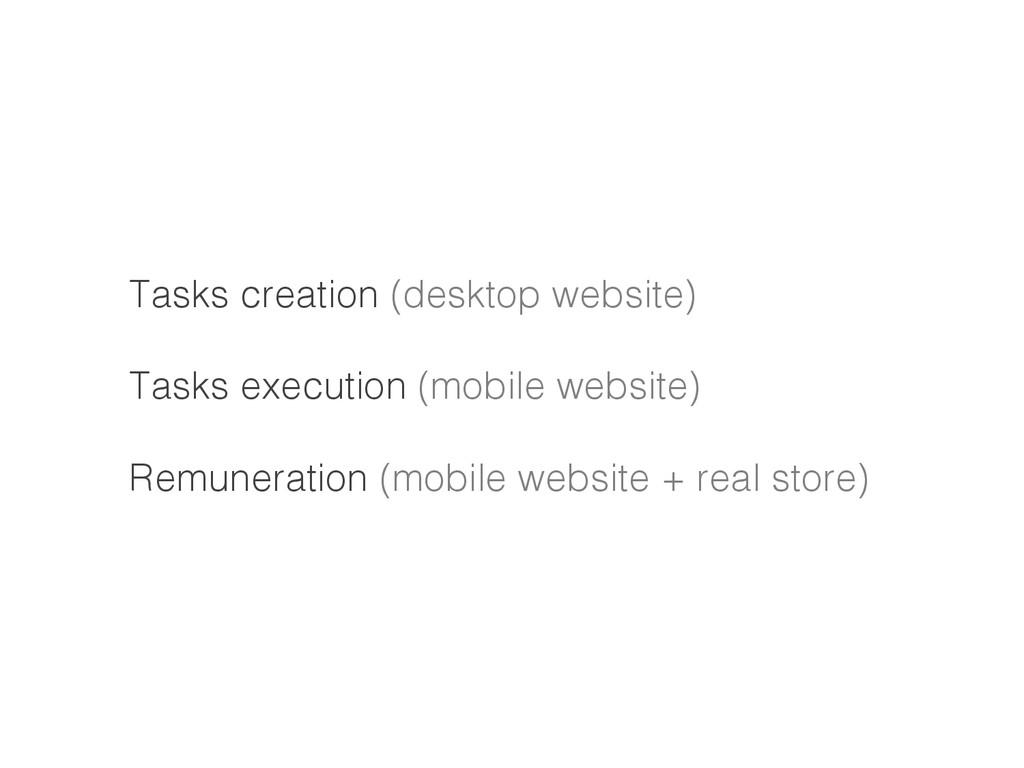 Tasks creation (desktop website)! ! Tasks execu...