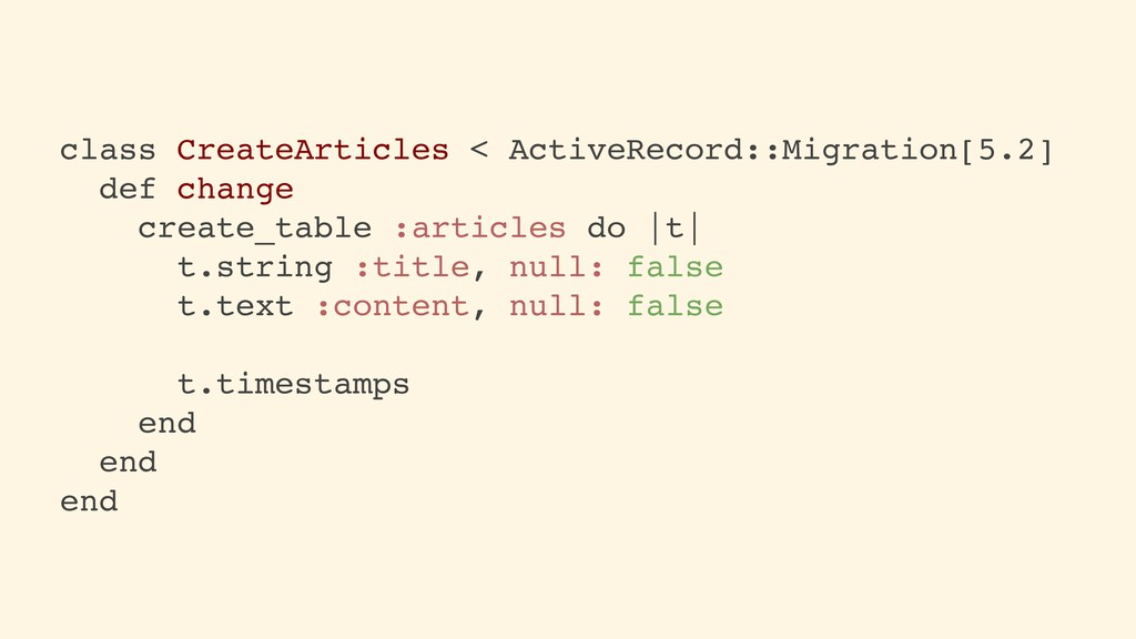 class CreateArticles < ActiveRecord::Migration[...