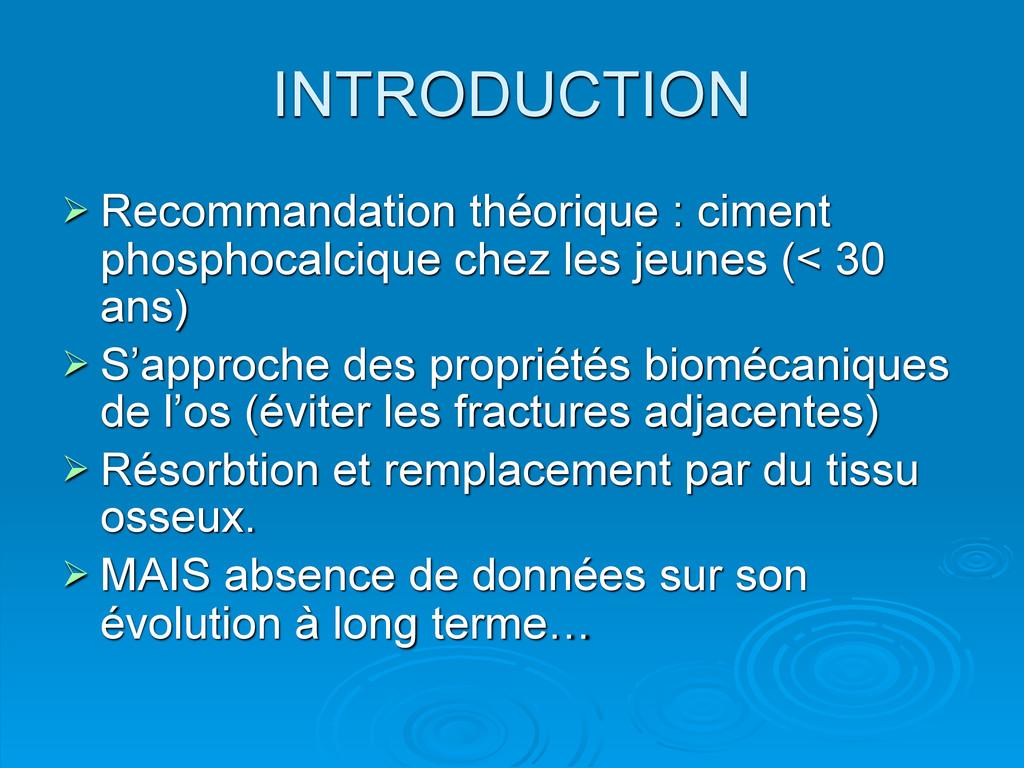 INTRODUCTION  Recommandation théorique : cimen...