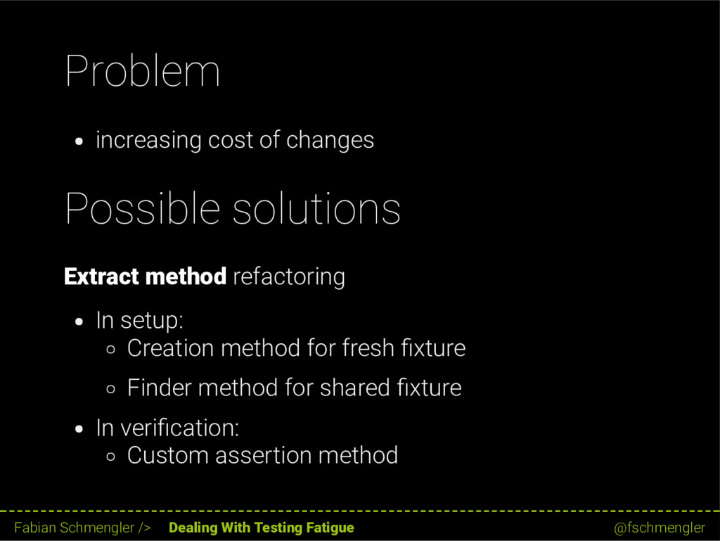 Problem increasing cost of changes Possible sol...