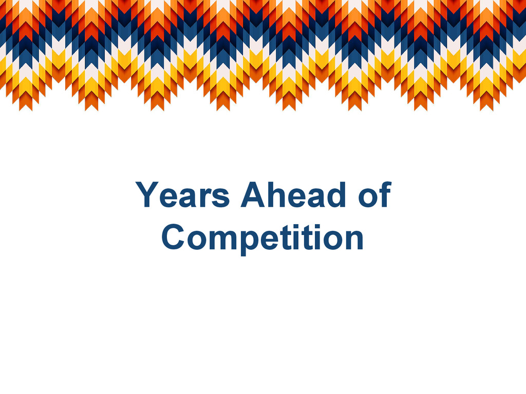 Years Ahead of Competition