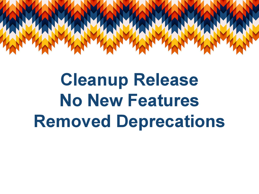 Cleanup Release No New Features Removed Depreca...