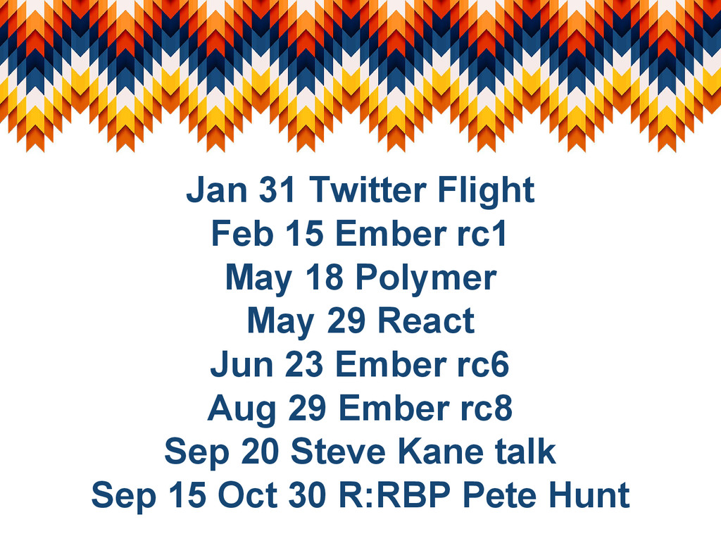 Jan 31 Twitter Flight Feb 15 Ember rc1 May 18 P...
