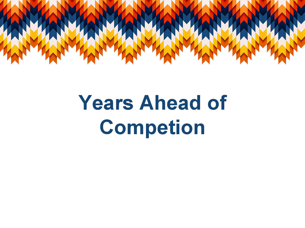 Years Ahead of Competion