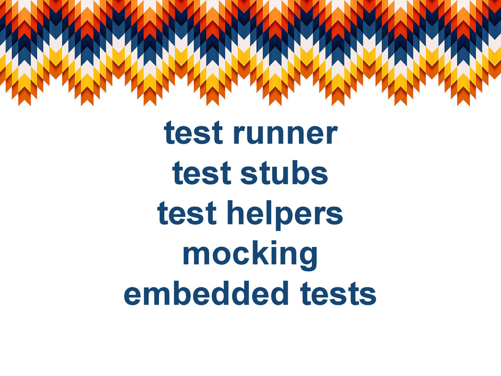 test runner test stubs test helpers mocking emb...