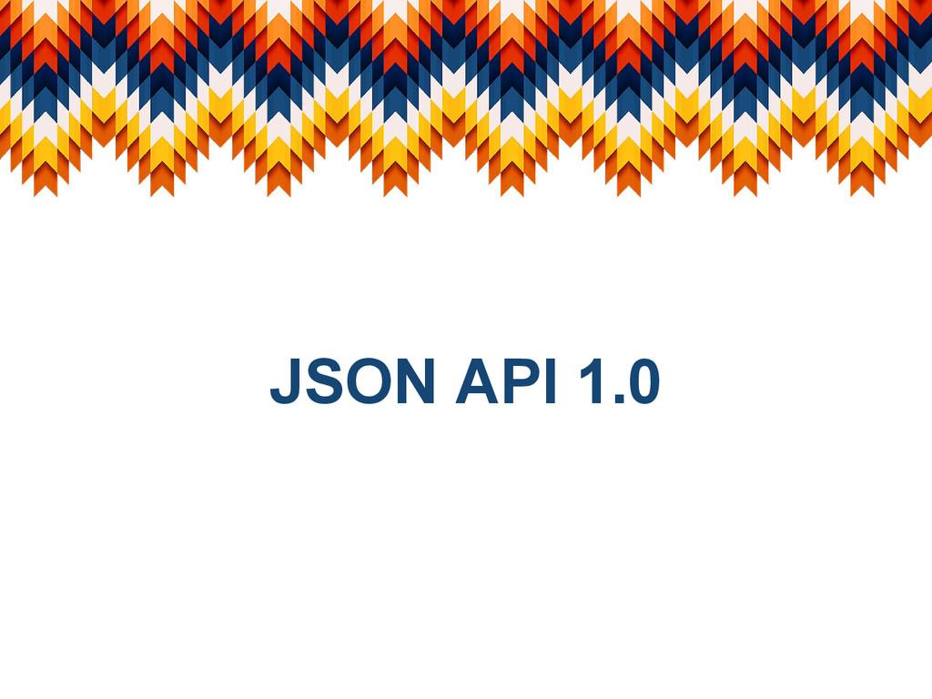 JSON API 1.0