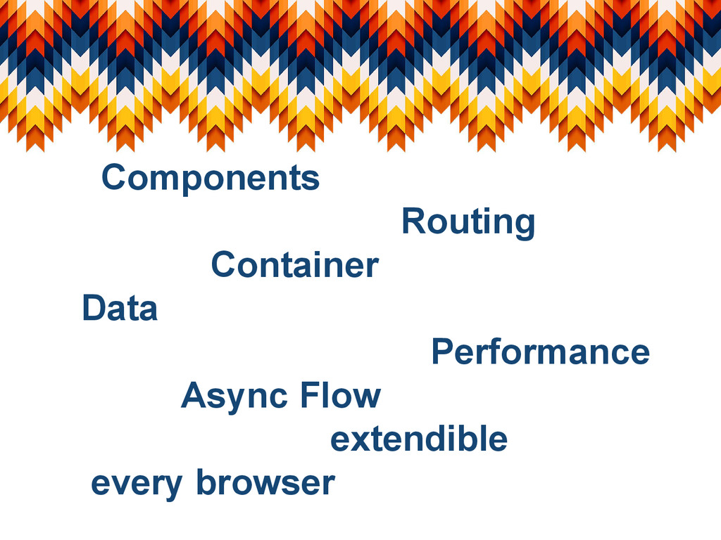 Components Routing Container Data Performance A...