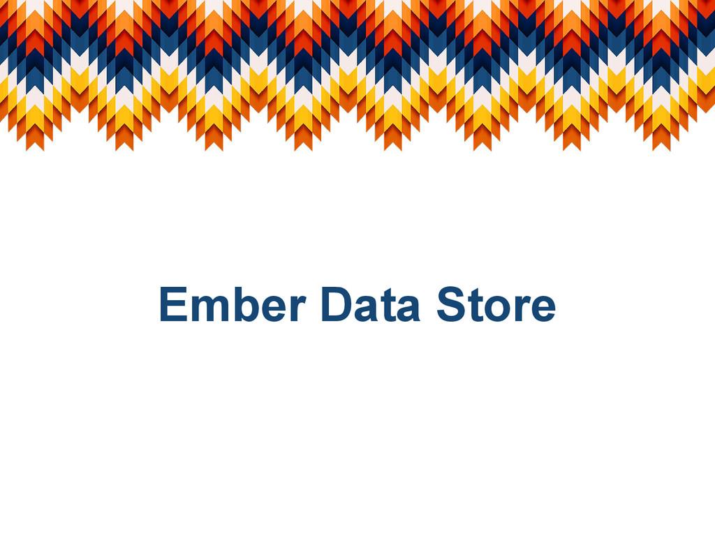 Ember Data Store