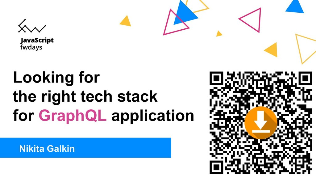 Looking for the right tech stack for GraphQL ap...