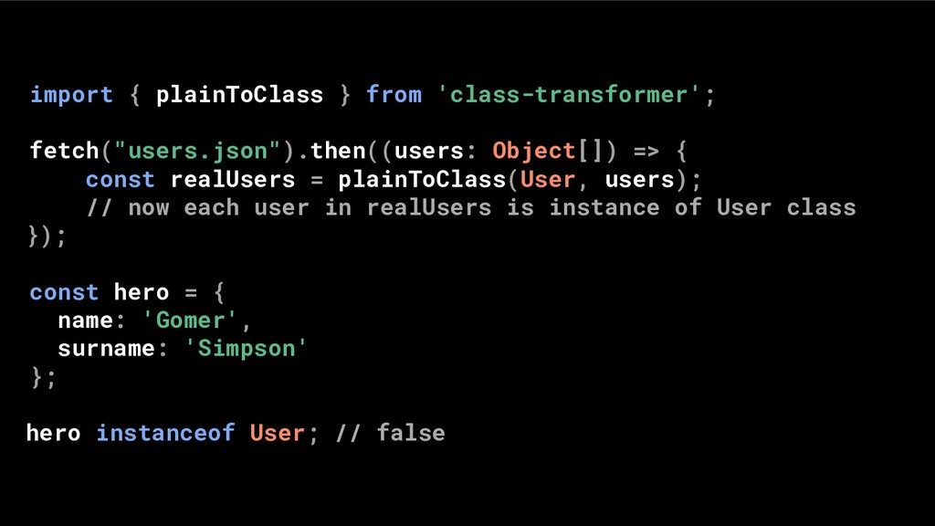 import { plainToClass } from 'class-transformer...