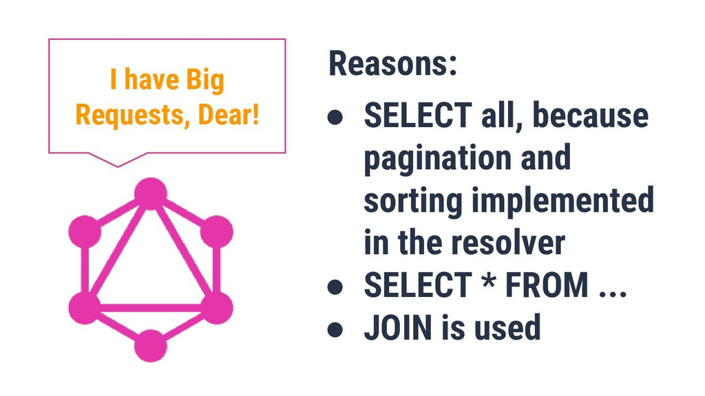 Reasons: ● SELECT all, because pagination and s...