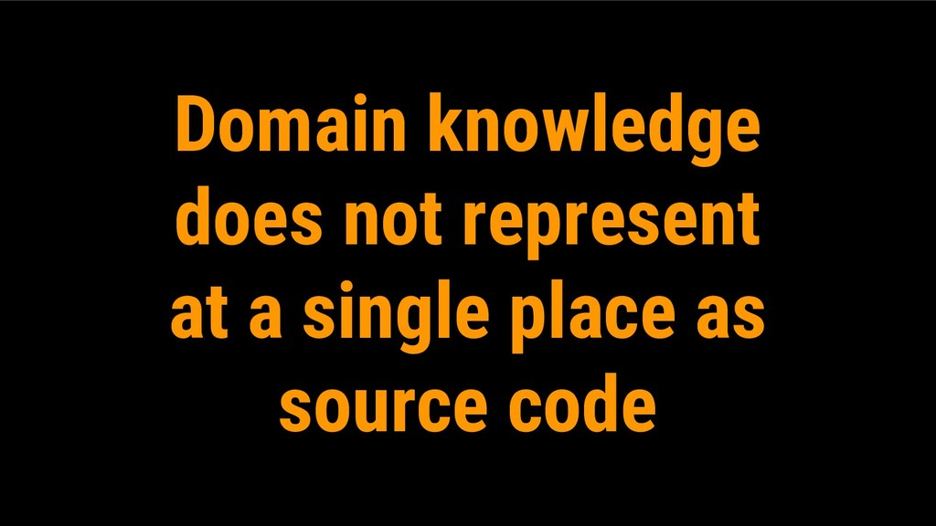 Domain knowledge does not represent at a single...