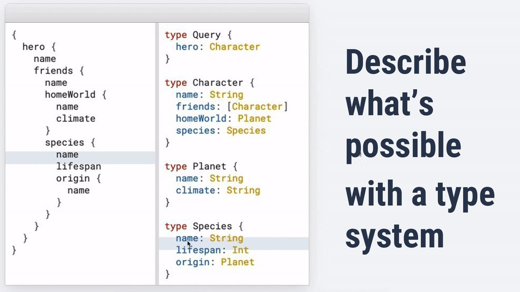 Describe what's possible with a type system