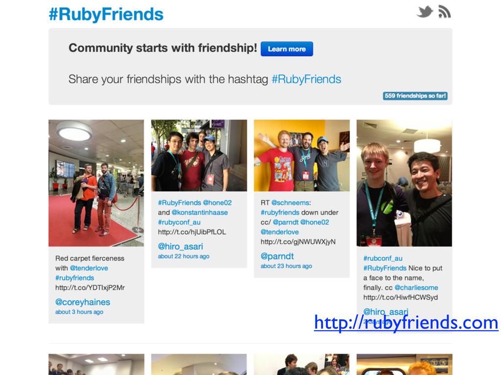 http://rubyfriends.com