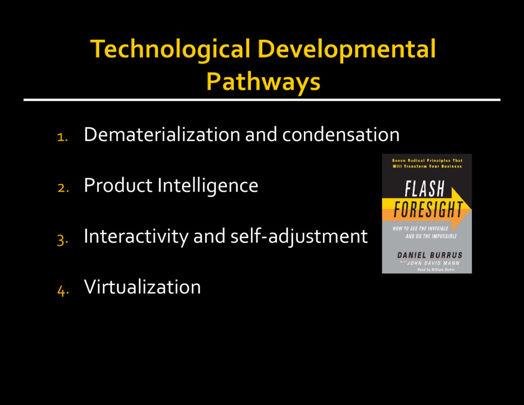 1. Dematerialization and condensation 2. Produc...