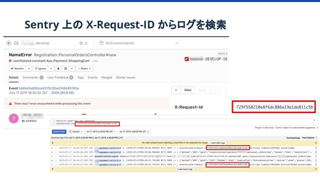 Sentry 上の X-Request-ID からログを検索